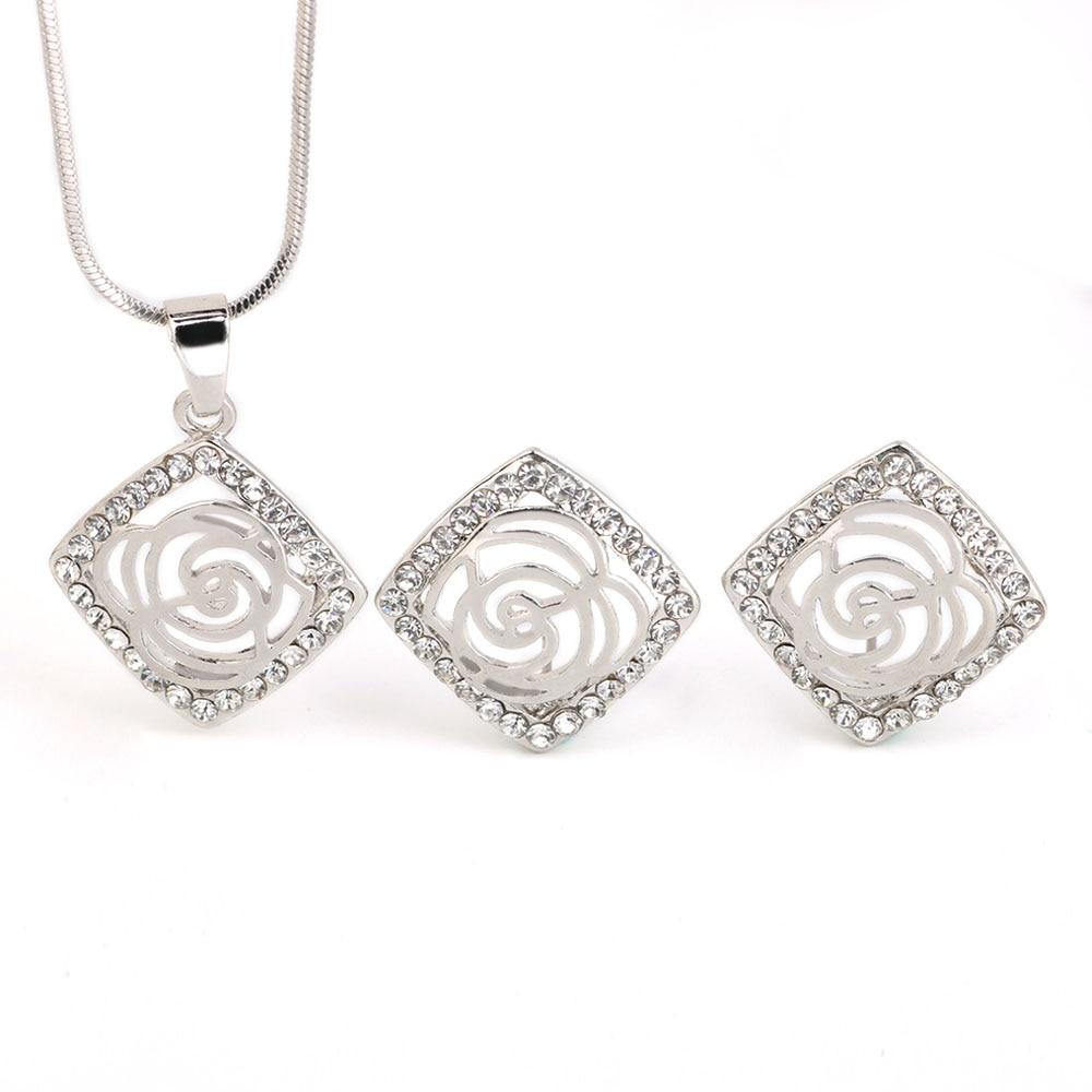 Rhinestone earrings exaggerated hollow body jewelry ...