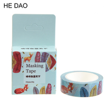 1 Pc / Pack Size 15 Mm*10m Diy Wander In The Blue Sky Washi Tapes Masking Tape Decorative Adhesive Tapes