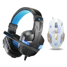 Купить с кэшбэком Gaming headphones Earphone Gaming Headsets Headphone Xbox One Headset with microphone led light for pc ps4 playstation 4 laptop