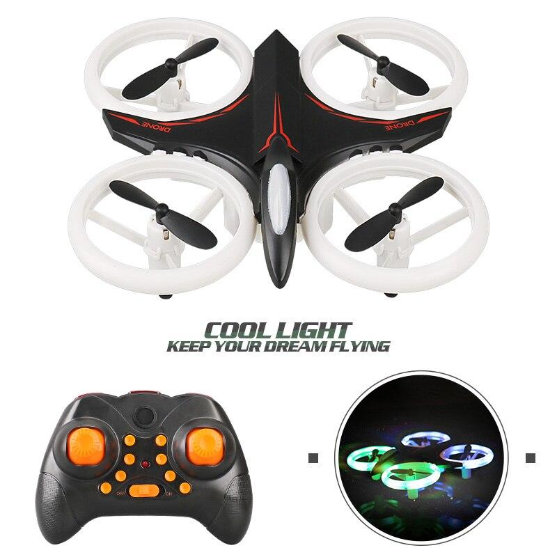 Multicolor Light Mini Drone RC Helicopter Quadcopter Dron Copter Remote Control Children Toy Altitude Hold Quadrocopter D6
