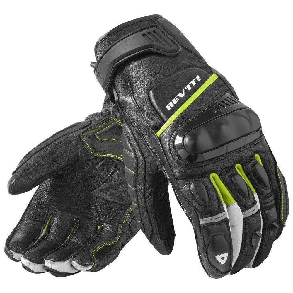 Nouveau 2019 Revit Chicane noir/jaune néon moto Street Style gants de course gants de moto en cuir véritable