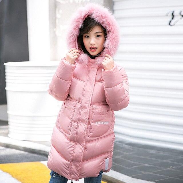c4794f85a Child Girl Jackets for Girls Children s Autumn Winter Long Down ...