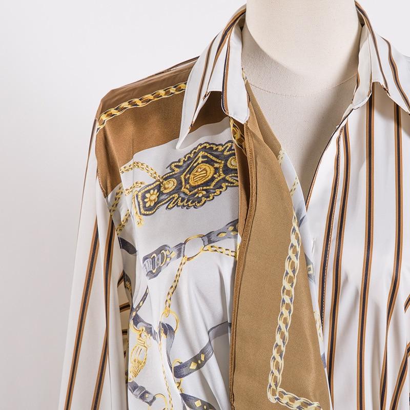 A 1 Top Rayas Nuevo Sexy Camisa De Larga Mujeres Moda 2019 Estilo Blusa Camiseta OZH8qaUw