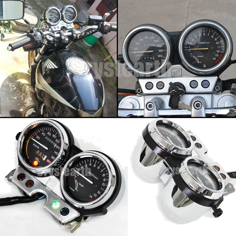 Motorcycle Speedometer Odometer Tacho Gauge Tachometer Gauges Cluster Instrument Assembly Kit For Honda CB400 1992 1993 1994 motorcycle tachometer odometer instrument speedometer gauge cluster meter for honda cb400 sf vtec i 1999 2001 1999 2000 2001