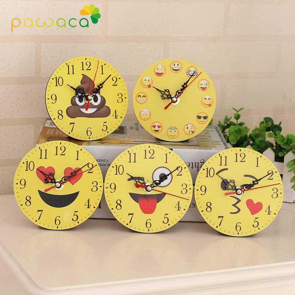 Cute Expression Wall Clock Modern Design Cartoon Design Non-Ticking Silent Wall Clock  Home Decor Watches Large Wall Clock