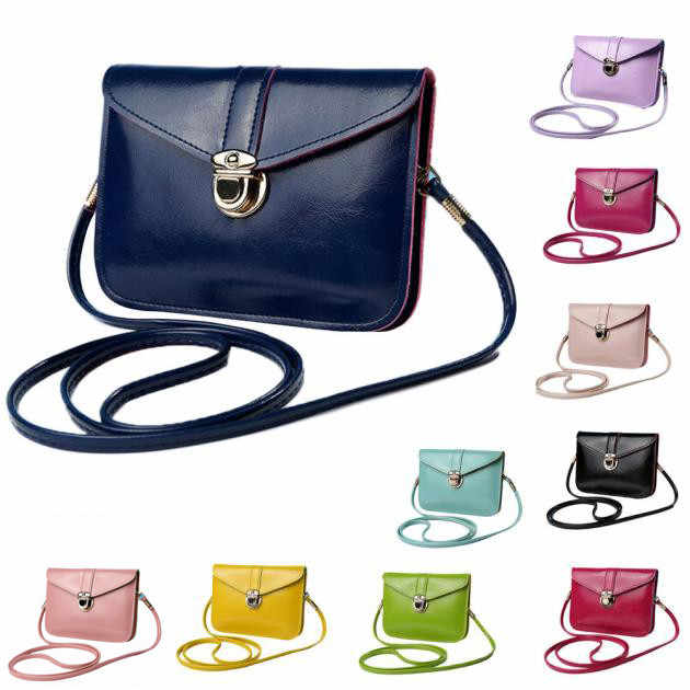 Women Leather Handbags Mini Card Coin Mobile Phone Bags Fashion Small Change Purse Female Buckle PU Shoulder Crossbody Bag2.9
