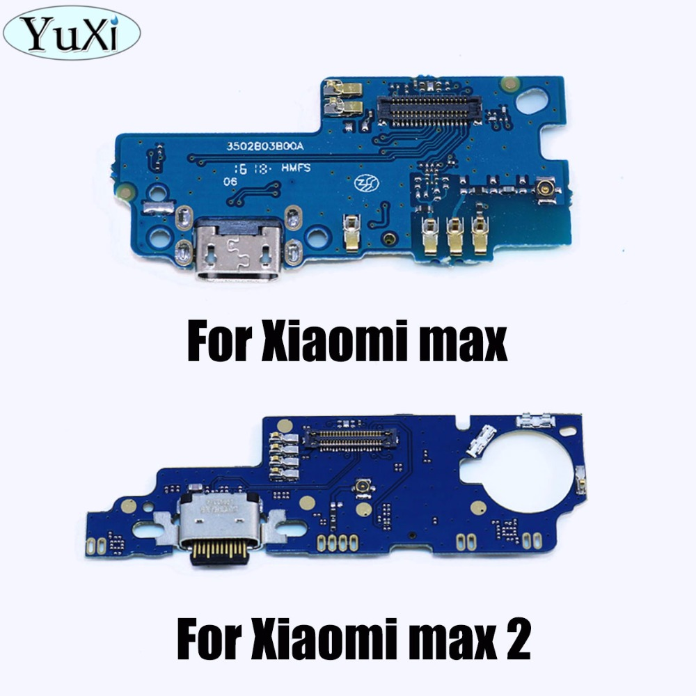 YuXi New For Xiaomi Mi Max 2 Max2 USB Charging Port Charger Board Dock Charger Connector Mic Microphone Flex Ribbon Cable