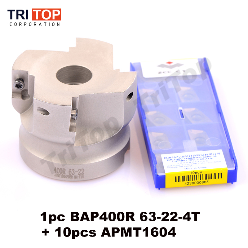 Подробнее о BAP JAP 400R-63-22-4T Milling tool with 10pcs milling insert ( APMT1604PDER ) Face Mill Shoulder Cutter BAP 400R 63-22-4T uxcell bap400r 63 22 4t 0 87 x 2 5 metal right angle shoulder face milling cutter