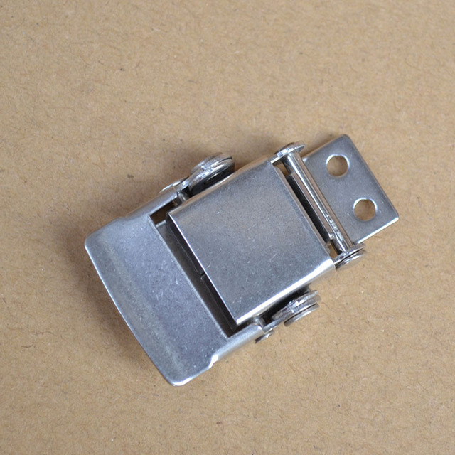 US $19 98 |free shipping 304Stainless steel buckle latch spring snap  Insurance Electrical medical equipment box bag case hasp hardware part-in  Hasps