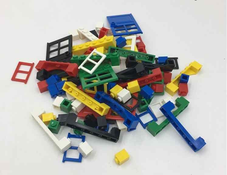 102 قطعة الباب نافذة الطوب DIY منزل اللبنات الطوب اللعب مدينة مهندس لعب للأطفال متوافق مع العلامة التجارية كتل GYH