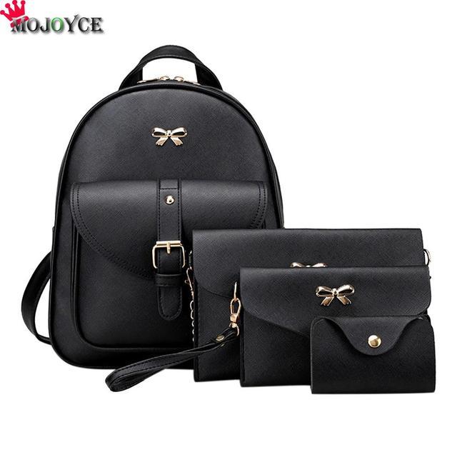 ef5555232ce43 2018 الأزياء الكورية النساء مصغرة حقيبة صغيرة بو الجلود حقائب مدرسية  المراهقين بنات أنثى السفر mochilas