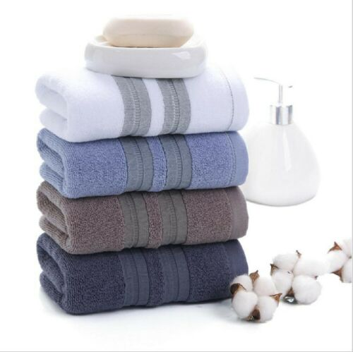 100/% Cotton Solid Color Towels Luxury Soft Sheet Thick Towel Face Hand Towel US