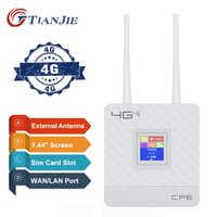 Desbloqueado 4G Router antena externa WiFi Hotspot inalámbrico 3G 4G Wifi router WAN, LAN RJ45 de banda ancha CPE Router con tarjeta SIM ranura