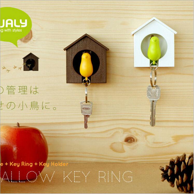 1set Whistling Key chain Rack key Hook key Hanger key ring storage Key Holder housekeeper valentine's day birthday gift LW0287