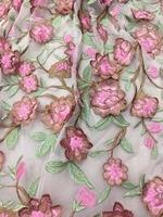 Мода Аппликация 3d Цветочный Классический вышивка тюль сетка кружева для свадьбы/вечернее платье/вечерние