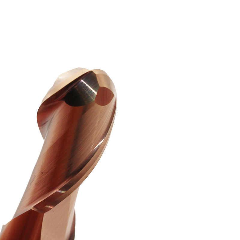 1 шт. фреза 8 мм карбидные сферические Концевые Фрезы HRC60 2 Флейта концевая фреза 1 мм 1,5 мм 2 мм 2,5 мм 4 мм 5 мм 6 мм Мельница Шаровая фреза с ЧПУ инструмент для резки