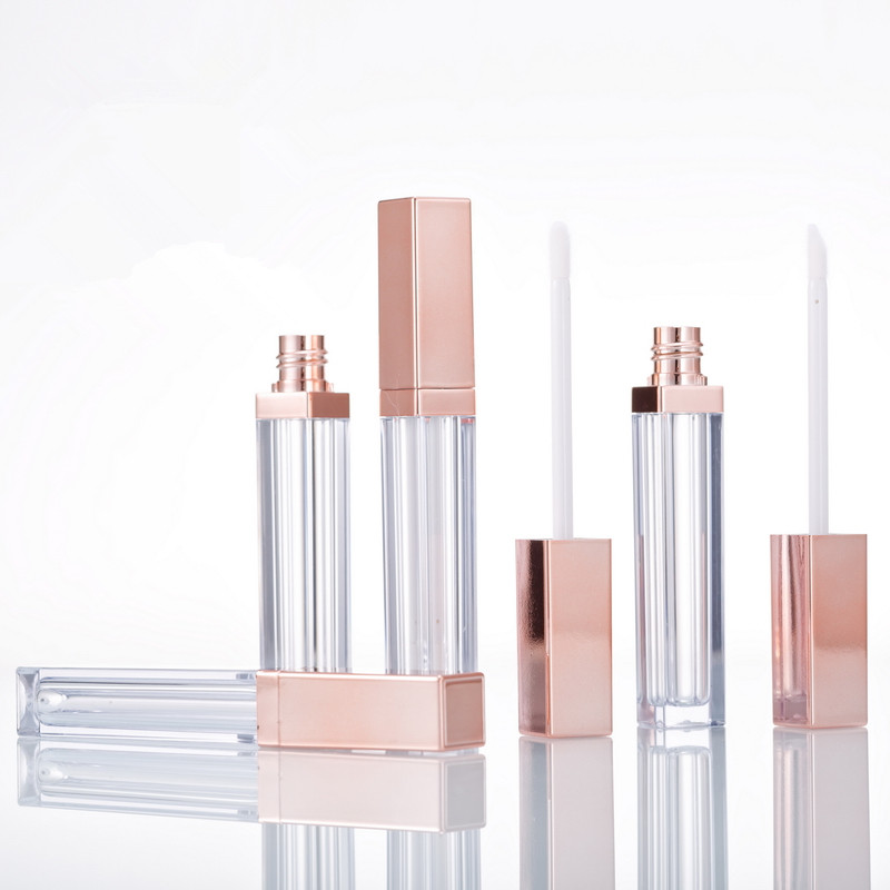 Empty Lipgloss Tube DIY Lip Gloss Mask Cream Containers Rose Gold Refillable Bottles Packing 20pcs/lot