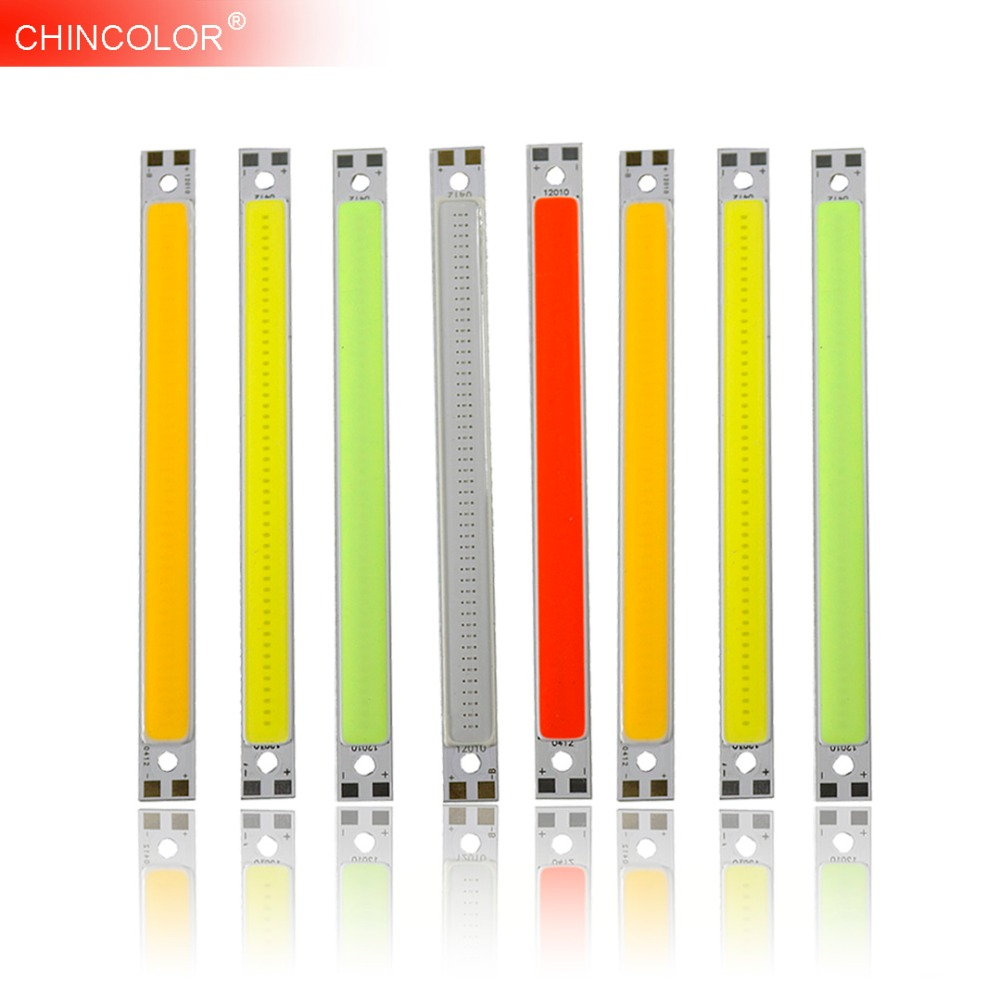 Highlight LED Light Strip 12V 10W COB Bar Light 120*10MM Super White Warm White Red Led Strip Lamp DIY Car Work Brightness JQ 120mmx36mm warm white pure white cob led strip lamp lights bulb 10w 1000lm super bright 12v 24v for diy high quality