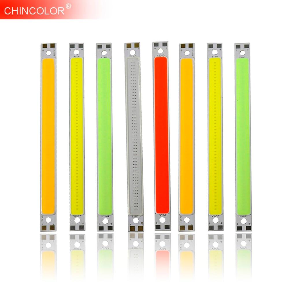 Highlight LED Light Strip 12V 10W COB Bar Light 120*10MM Super White Warm White Red Led Strip Lamp DIY Car Work Brightness JQ yz l1 diy 10w 900lm 3200k warm white light module 9 10v