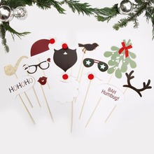 Christmas Photo Booth Props Christmas party Favor Supplier DIY Christmas Decoration Happy New Year Christmas Party Decorations цена 2017