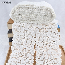 african lace fabric 2019 high quality wedding decoration trim DIY 1yard Watersoluble milk silk embroidery wide lacefabrics