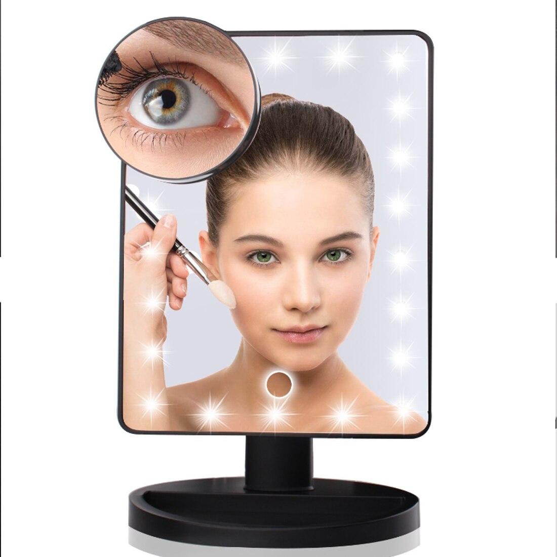 Schönheit & Gesundheit Klug 10 Mal Schönheit Spiegel Schönheit Desktop Licht Spiegel Led Licht Make-up Spiegel 16/22 Licht Intelligente Anpassung Helligkeit Schminkspiegel
