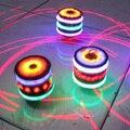 2017 Новый Забавный Многоцветный Гироскопа Волчки Игрушки Spinner С Музыкой Лазерной Вспышки Света для Детей YH-17