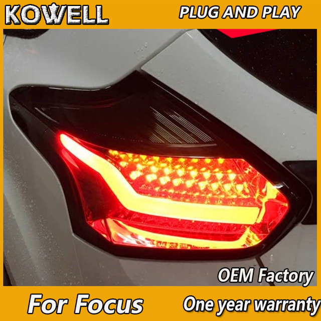 Kowell Car Styling For Ford Focus 2 Taillights 2017 2016 2018 Led Tail Lamp Rear Trunk Cover Drl Signal Brake Reverse