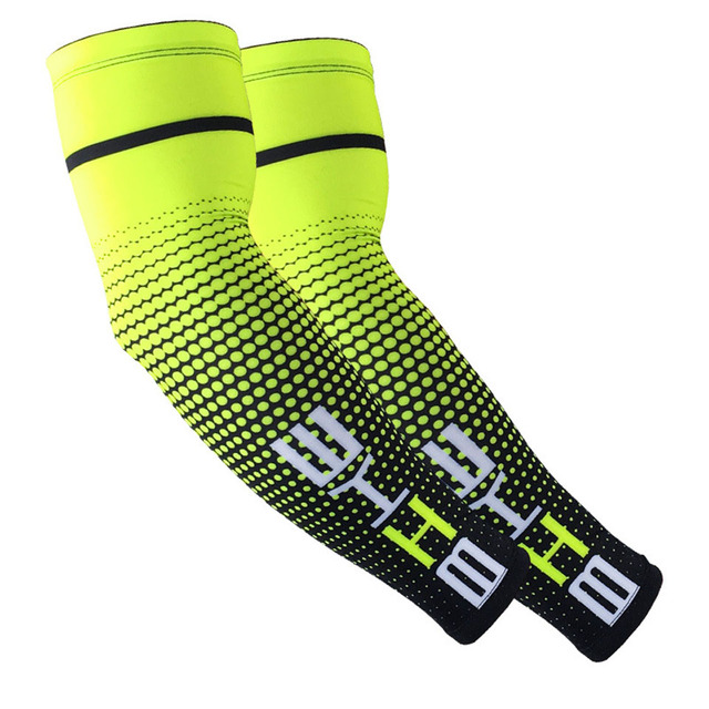 Loogdee 1Pair Cool Men Cycling Running UV Sun Protection Cuff Cover Protective Arm Sleeve Bike Sport Arm Warmers Sleeves 1