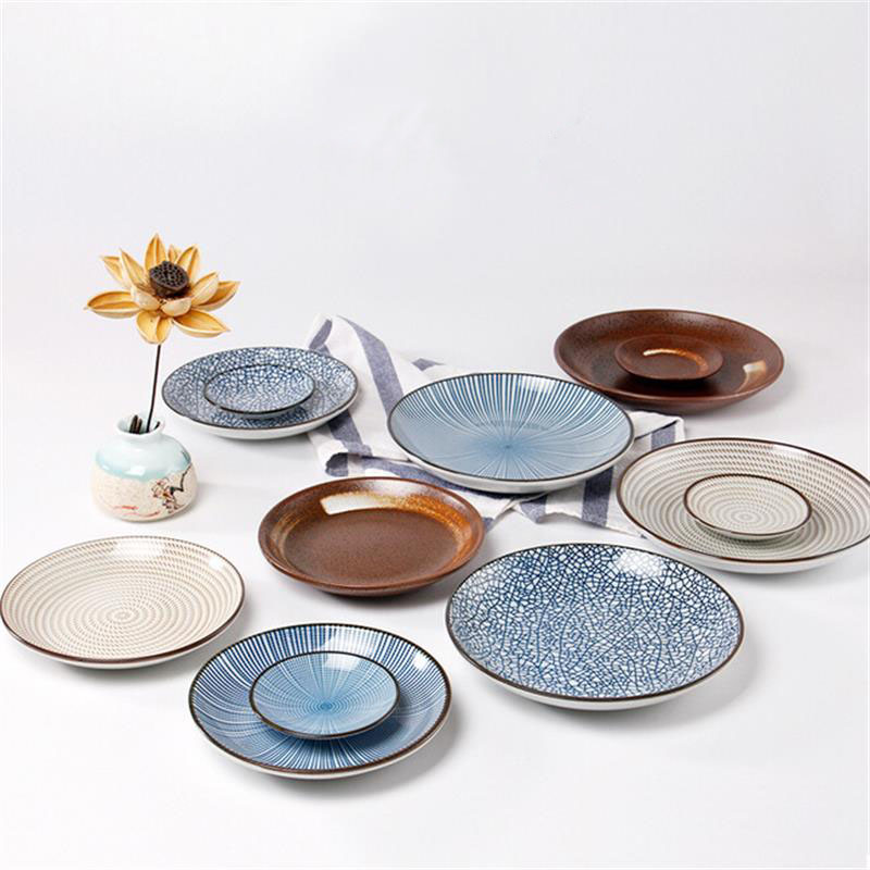 Çin üslubunda mavi çini keramika yuvarlaq plitələr Çini xəmir - Mətbəx, yemək otağı və barı - Fotoqrafiya 2