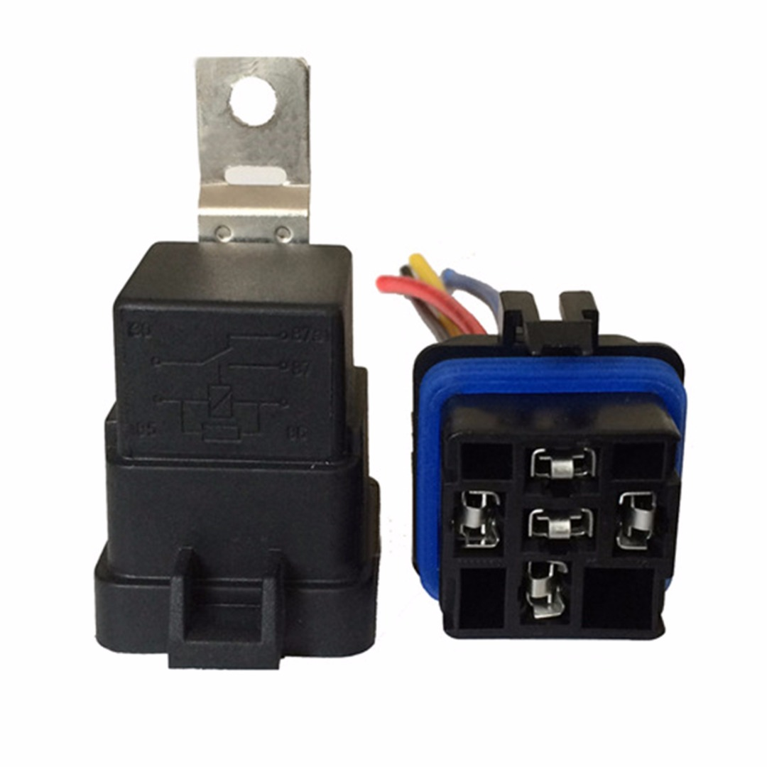 цена на 40/30 Amp Waterproof Relay High Power Switch Harness Set 12V DC 5-Pin SPDT Automotive Mayitr Power Supplies Relays