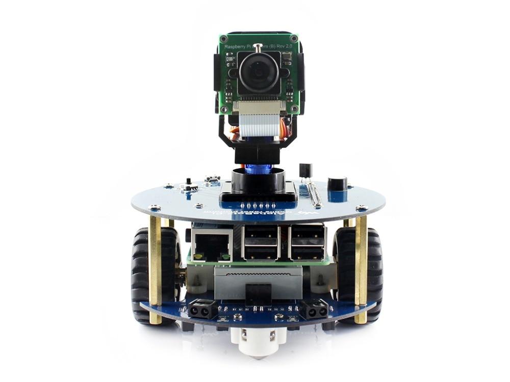 AlphaBot2 robot bâtiment kit pour Raspberry Pi 3 Modèle B +, RPi Caméra (B) + Micro SD carte carte + 15 Acc