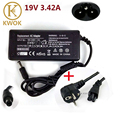 19V 3.42A 5.5mm*2.5mm AC Power Laptop Adapter Charger For acer 1200 1410 For toshiba M40 M45 For lenovo/asus Free EU Power Cord