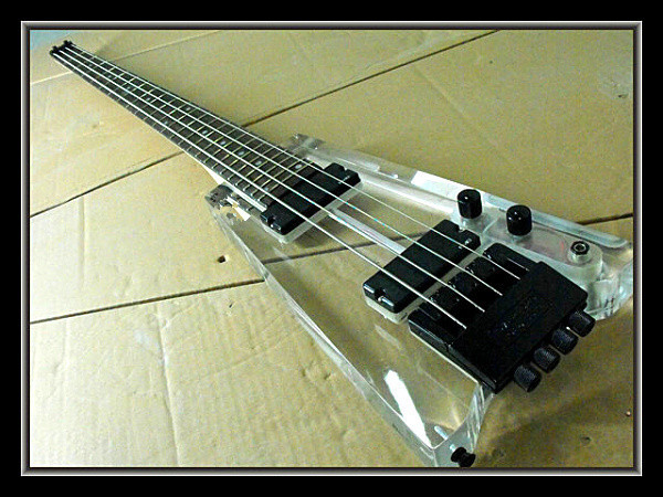 2015 new factory acrylic headless electric bass guitar acrylic bass free shipping acrylic. Black Bedroom Furniture Sets. Home Design Ideas