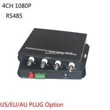 4CH 1080P AHD CVI FC/Single Mode Coaxial Video Data Fiber Media Converter Video Transceiver -1 Pair