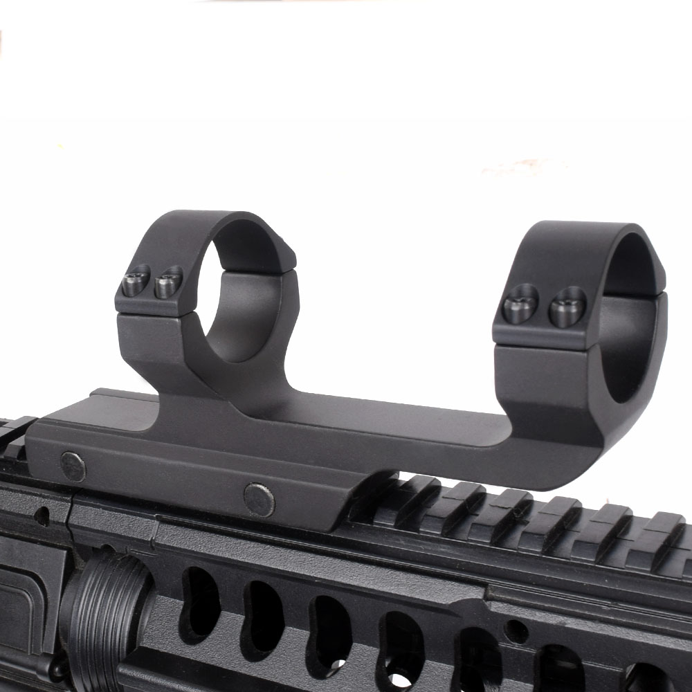 WIPSON Tactical 30mm One Piece Scope Offset Picatinny Mount Integral Rings .223 5.56 Long Flat Top Mil-spec Matte Black