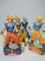 MSP Super Saiyan Goku Figura de Dragon Ball Kakarotto Cepillo figura PVC 24 cm Figura de Acción de Dragon Ball Z DBZ DragonBall Z
