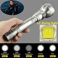 Новый Дайвинг фары XM-L L2 LED 3800Lm Diver Дайвинг фонарик Водонепроницаемый фонарик Факел света Для 2x18650 батареи
