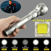 New Diving Lights XM L T6 LED 3800Lm Diving Flashlight Waterproof Lamp Underwater Torch Diver Light