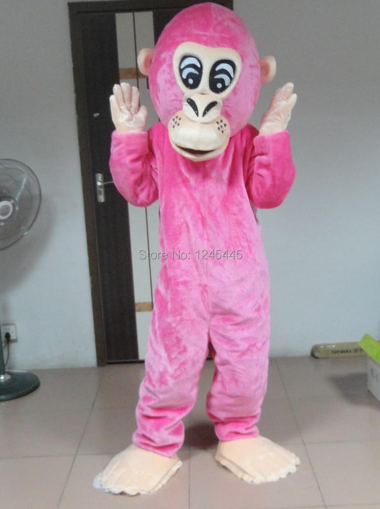 ⑧Rosa mascota gorila adulto mascota traje - a444
