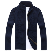 New Men Sweater Coat Brand Clothing Fashion Autumn Zipper Slim Turtleneck Knitwear Casual Cardigan Male Masculino Sweatercoat