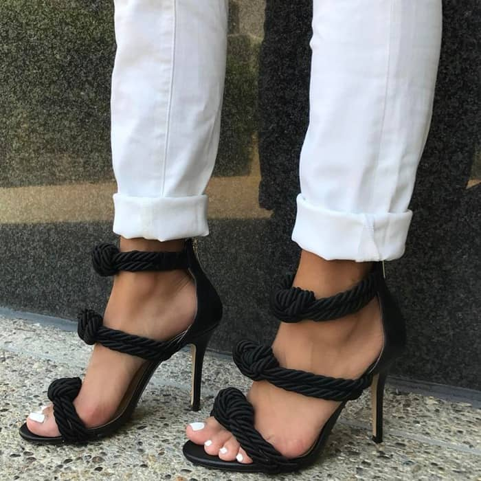 Fashion Rope Braided High Heel Sandals Summer Open Toe Cutouts Gladiator Shoes Woman Thin Heels Dress Shoe Black BeigeFashion Rope Braided High Heel Sandals Summer Open Toe Cutouts Gladiator Shoes Woman Thin Heels Dress Shoe Black Beige