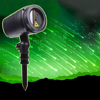 Thrisdar Outdoor Garden Star Laser Projector Lamp Meteor Shower Rain Wedding Party Holiday Christmas Laser Projector Stage Light