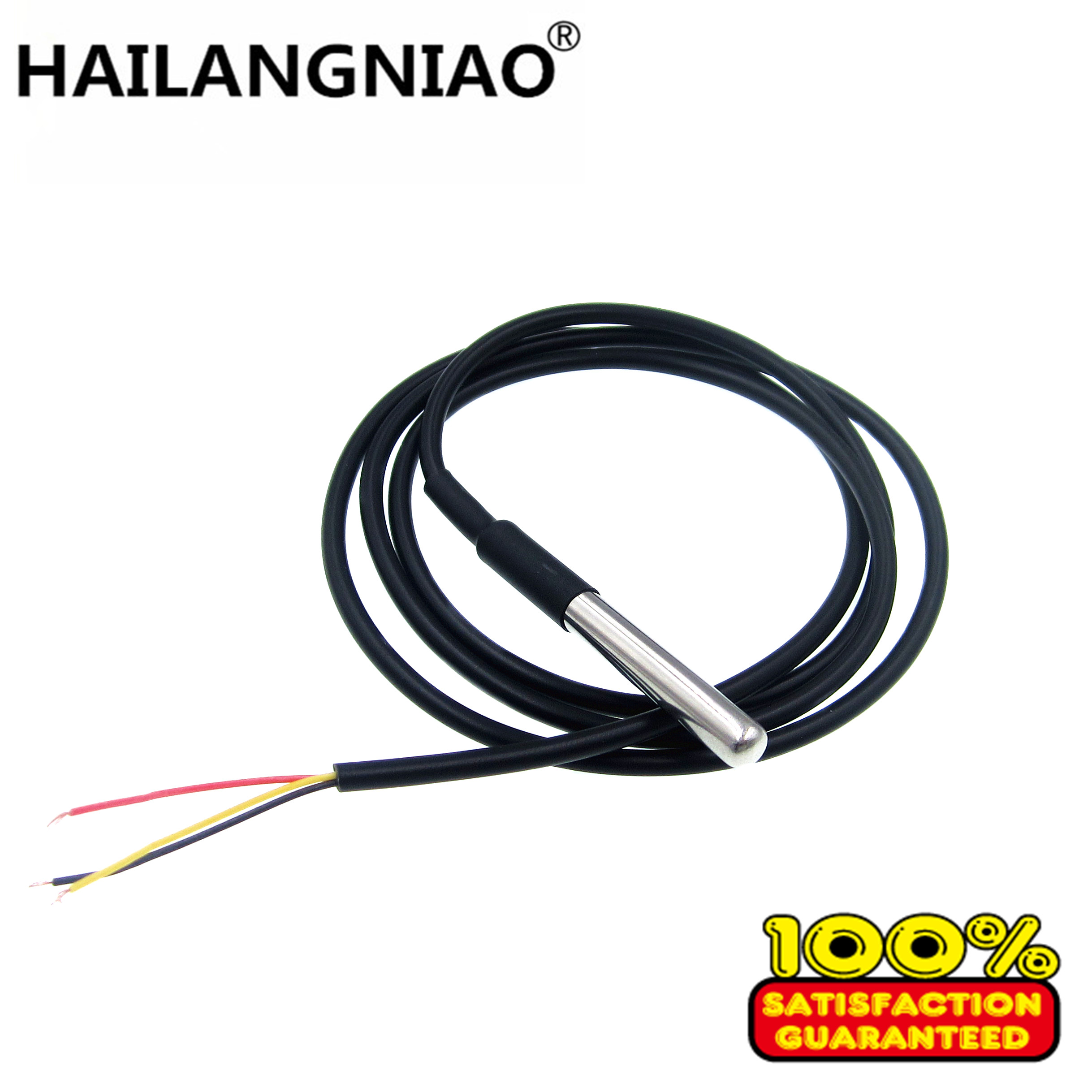 1pcs <font><b>1M</b></font> 2M 3M <font><b>DS18b20</b></font> Stainless steel package Waterproof <font><b>DS18b20</b></font> temperature probe temperature sensor 18B20 image