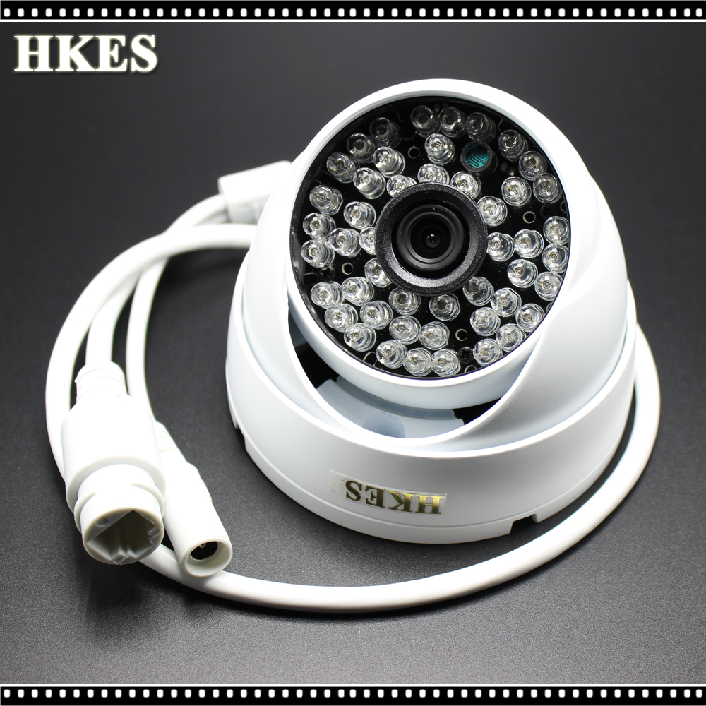 HKES D636 2MP IP Camera 1080P Full HD camera IP outdoor p2p Metal IR Dome Night Vision Waterproof CCTV Camera IR-CUT,ONVIF 2.4 security ip camera outdoor h 264 2mp onvif 2 0 cctv full hd 1080p 2 0megapixel dome 2 8mm lens wide angle ir cut filter