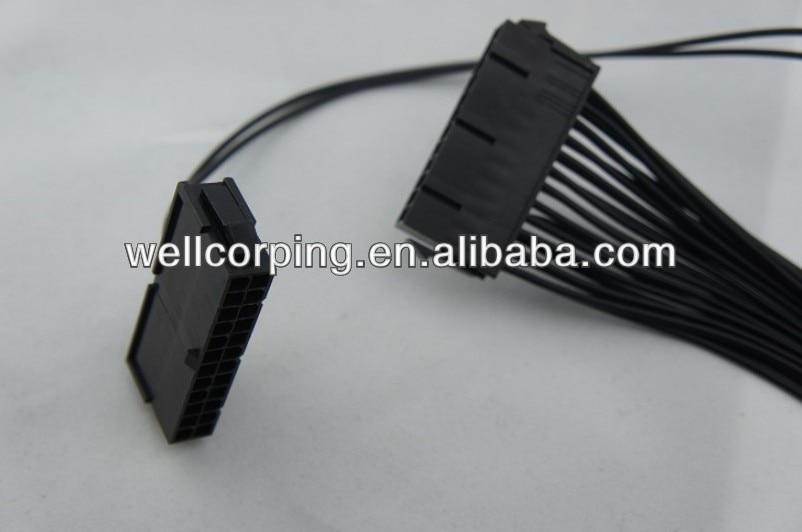 Adaptador de fuente de alimentación dual de 24 pines Wellcore de 30 cm Ideal para máquina de juego o Bitcoin / Litecoin