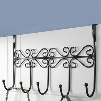 hoge kwaliteit iron art achterdeur hanger haak badkamer keuken hanger haken met 5 hook handdoek hoed kleren deur muur haken