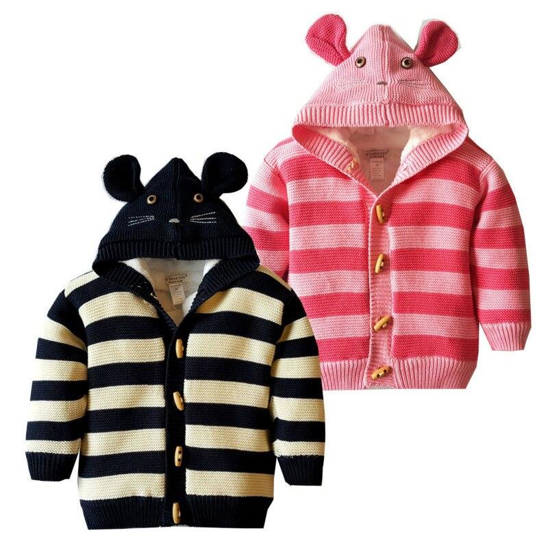 100% Wahr Kinder Pullover Mantel 2018 Neue Herbst Und Winter Jungen Und Mädchen Pullover Kinder Plus Samt Baumwolle Pullover Mantel Exquisite (In) Verarbeitung