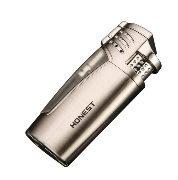 Creative גלוי Jet בוטאן לפיד טורבו מצית גז Inflatble Windproof צבאי סיגר טבק צינור Lighter698