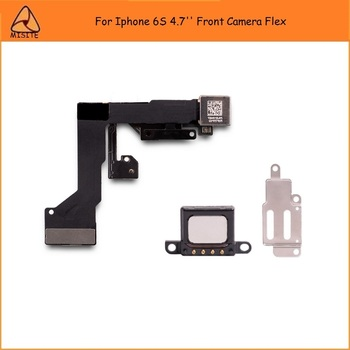 50PCS/LOT Tested phone Small Camera Flex For Iphone 6S 4.7''Front Camera Proximity Sensor Flex Cable+Earpiece+Metal Bracket